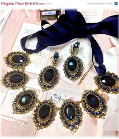 Wedding jewelry  bridal crystal jewelry by BijouxandCouture, $71.25