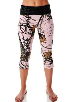 NEW FOR 2014: Capri Lounge Pants - Mossy Oak Break-Up Pink Camo