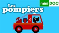LE CAMION DE POMPIER ET LES POMPIERS mini documentaire pour maternelles ... Community Helpers, Learn French, Grade 1, Social Studies, Wooden Toys, Transportation, Learning, Mini, Videos