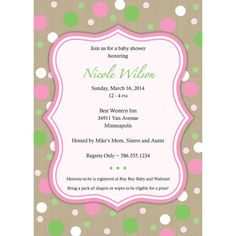 Girl Baby Shower Invitation with Faux Burlap by SaraPriceDesigns, $15.00
