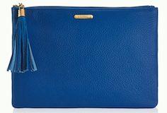 Bright blue zipper pouch