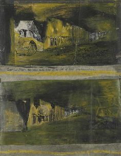 Artwork by Graham Sutherland, Studies for 'Devastation: East End Street, Made of ink, pastel, wash and collage on paper Graham, Auction, Collage, Pastel, Study, Ink, Street, Artwork, Painting