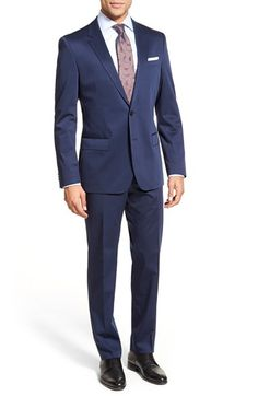 BOSS Trim Fit Solid Stretch Cotton Suit available at #Nordstrom