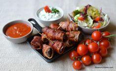 Retete de aperitive festive - platou asortat   Savori Urbane Barbecue, Bacon, Lidl, Tandoori Chicken, Good Food, Food And Drink, Cooking Recipes, Meat, Ethnic Recipes