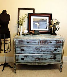 Love this dresser redo. Maybe do a cream and brown colors of the bedroom.