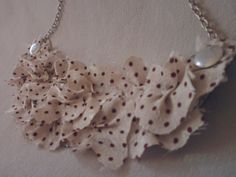 beige polka dots statement necklace by DragonflyShopSerbia on Etsy  #etsy #jewerly #necklace #dragonfly
