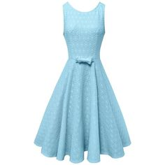Anni Coco Women's Lace Crochet Vintage Wedding Party Dresses Multi... (1.175 RUB) ❤ liked on Polyvore featuring dresses, blue lace dress, lacy dress, blue cocktail dresses, vintage dresses and multi-color dresses