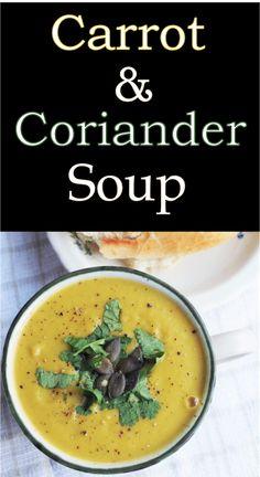 Carrot & Coriander Soup |Euphoric Vegan