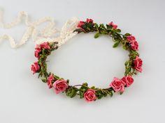 Serre-têtes, Couronne de fleurs est une création orginale de LolaWhite sur DaWanda