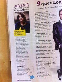 Interview de Davina Loisel, fondatrice de www.jolietete.fr dans le magazine Dynamique entrepreunariale ! #headband #serretete #bandeaucheveux #accessoirecheveux #bijoudetete #hairstyle  http://www.jolietete.fr/