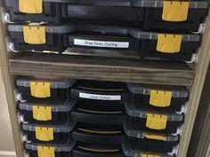 Life on a Bike: Small Parts Organizer Rack by S. Tool Storage, Storage Ideas, Hardware Organizer, Small Parts Organizer, Garage Organization, Savage, Drawers, Wicked, Engineering
