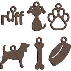 Silhouette Design Store - View Design #12498: dog charms