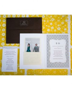 "See+the+""The+Invitation""+in+our+A+Retro+DIY+Wedding+Outdoors+in+California+gallery"