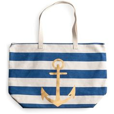Rosanna 'Anchor Stripe' Tote (€48) ❤ liked on Polyvore featuring bags, handbags, tote bags, blue, canvas tote bag, striped canvas tote bag, striped tote, striped beach tote and striped canvas tote