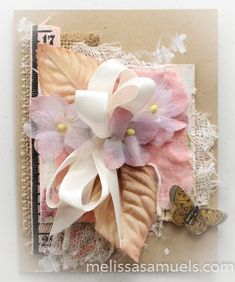 Kraft Card with flowers