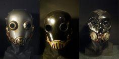 Masks of Karl Ruprecht Kroenen (Hellboy Villain) Hellboy Kroenen, German Helmet, Robot Costumes, Cool Masks, Arm Armor, Fantasy Costumes, Movie Props, Dieselpunk, Holidays Halloween