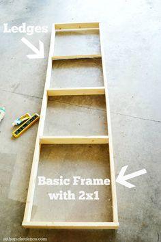 An easy DIY plate rack