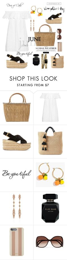 """""""Summer outfit White and Black"""" by Diva of Cake on Polyvore featuring Serpui, Tory Burch, Chloé, SONOMA Goods for Life, Schone, J.Crew, Fernando Jorge, Elie Saab, Michael Kors and Chanel"""