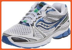 Saucony Women's Pro Grid Guide 5 Running Shoe,White/Silver/Blue,6.5 N US - Athletic shoes for women (*Amazon Partner-Link)