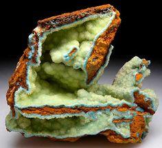 Senegalite (aluminum/phosphorus) with Turquoise. Khouroudiako, Senegal
