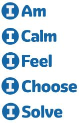 """5 Steps to Self-Regulation. """"Self-regulation is essential for social, emotional, academic and life success. Help coach children in the five-step process with these icons for I Am, I Calm, I Feel, I Choose and I Solve."""""""