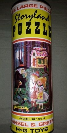 Vintage HG Toys Hansel and Gretel Storyland Jigsaw Puzzle in Collector's Tin Can | eBay