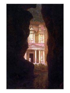 El Khasne, Petra Art Print by Frederic Edwin Church at Art.com [Hudson River School]