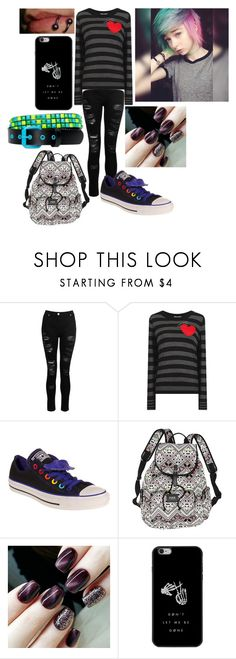 """Untitled #485"" by dino-satan666 ❤ liked on Polyvore featuring Dorothy Perkins, Sonia by Sonia Rykiel, Converse and Victoria's Secret"