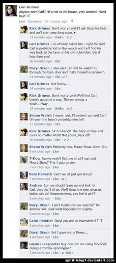 Walking Dead World Facebook ..lol