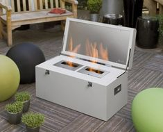 Nice portable fireplace for outdoors