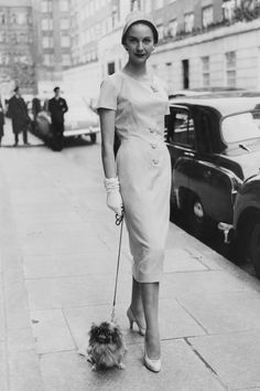 TRULY VINTAGE STREET STYLE Dress from the E.R. Hill of London spring collection   - HarpersBAZAAR.com