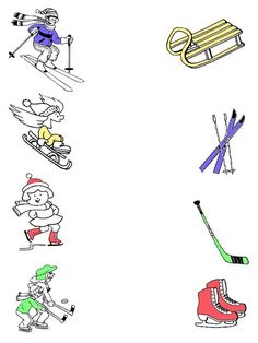 Preschool Worksheets, Kindergarten Activities, Preschool Activities, Kids Sports Crafts, Sport Craft, Feelings Preschool, Olympic Crafts, Art Activities For Toddlers, Winter Sports