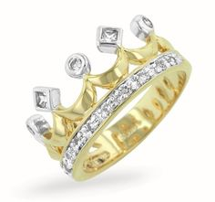 So want this. Been looking for the right crown ring for a while, this is super cute :)