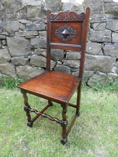 Restored Oak Chair, Hall Chair, Side Chair