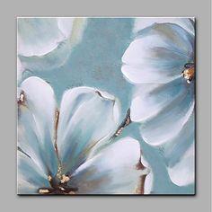 Pintada a mano Floral/Botánico Cuadrado, Modern Lona Pintura al óleo pintada a colgar Decoración hogareña Un Panel 2018 - $233296