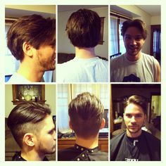 Before (yuck) and after (amazeballs!) men's hair styles