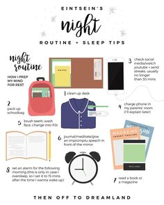 This is also around about everything that I do on a normal school night, once you start doing these things and it becomes a habit, your brain starts knowing when to start getting ready for sleep!