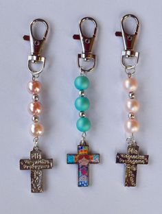 Beaded Jewelry, Handmade Jewelry, Beaded Bracelets, Bead Crafts, Jewelry Crafts, Handmade Angels, Beaded Bookmarks, Confirmation Gifts, Jewelery