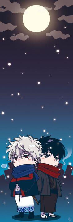 Kawaii Cute Chibi Gintoki Sakata sakata gintoki gin-san GINTOKI toushirou toushi Hijikata hijikata toushirou Shinsengumi Yorozuya GINTAMA Anime