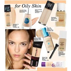The Best Drugstore Foundations for Oily Skin by kusja on Polyvore featuring beauté, Yves Saint Laurent, Beauty, foundation, beautyproducts, drugstorebeauty and beautyforless