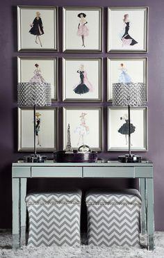 Ledger Parsons Mirrored Desk