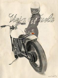 Raulowsky - Vieja Escuela Corb Motorcycles