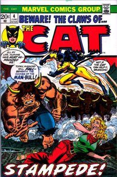 The Cat 4 June 1973 Issue Marvel Comics Grade by ViewObscura Avengers Comics, Marvel Comic Books, Marvel Vs, Marvel Heroes, Comic Books Art, Comic Art, Marvel Women, Book Art, Loki