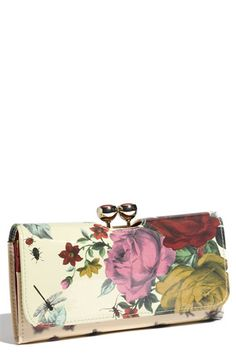 Ted Baker London 'Rose Bug - Bobble' Printed Matinee Wallet