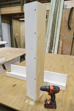 DIY how to build a picture ledge - Wall board and base screwed in