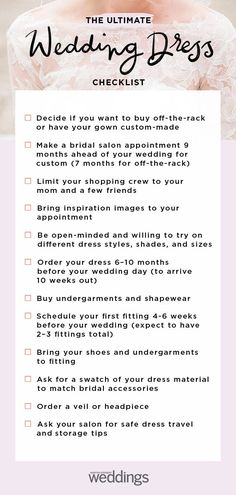 Your Ultimate Wedding Dress Checklist Wedding Expenses, Budget Wedding, Wedding Planning, Wedding Day, Wedding Checklists, Wedding Things, Wedding Blog, Wedding Stress, Corsage And Boutonniere