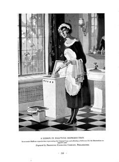 French Maid Modern Bath Ad Roaring Twenties Advertisement Vintage Lithograph To Frame Black & White Photography Themes, Color Photography, Grand Tour, Roaring Twenties, The Twenties, Maid Uniform, Hotel Uniform, Game Of Love, Modern Baths