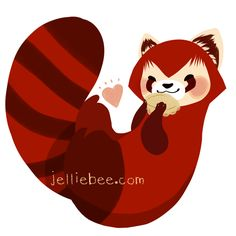 This a red panda! It's a hybrid between the two cutest animals ever: the panda and the raccoon!
