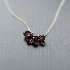 LOVE!   lotus  silver and purple teardrop necklace by by elephantine, $37.00