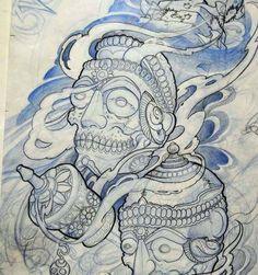 aaa-crane Tattoo Sketches, Tattoo Drawings, Body Art Tattoos, Drawing Sketches, Tattoo Studio, Samourai Tattoo, Tibetan Tattoo, Crane Tattoo, Skull Pictures